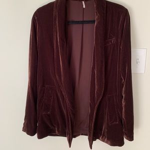 Free People Velvet Blazer